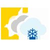 Nuboso con nieve escasa
